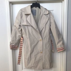 MISSONI Trench Coat Belt Button Up Colored Lining
